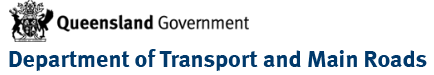 Department of transport and main roads logo
