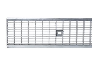 SABDrain 601 combines the flexibility and durability of a polypropylene drainage channel unit whilst still being able to satisfy the strength requirements for situations that require accessibility for passenger and light commercial vehicles. This rated channel and grate has been designed to offer maximum versatility while delivering a lifetime of low maintenance service. Each galvanised gate comes with a 2 point security fixing, to keep it rattle free from vehicular movements and secure it from unauthorised access. This is a heel guard type grate, where heeled shoes are prevented from catching in it.
