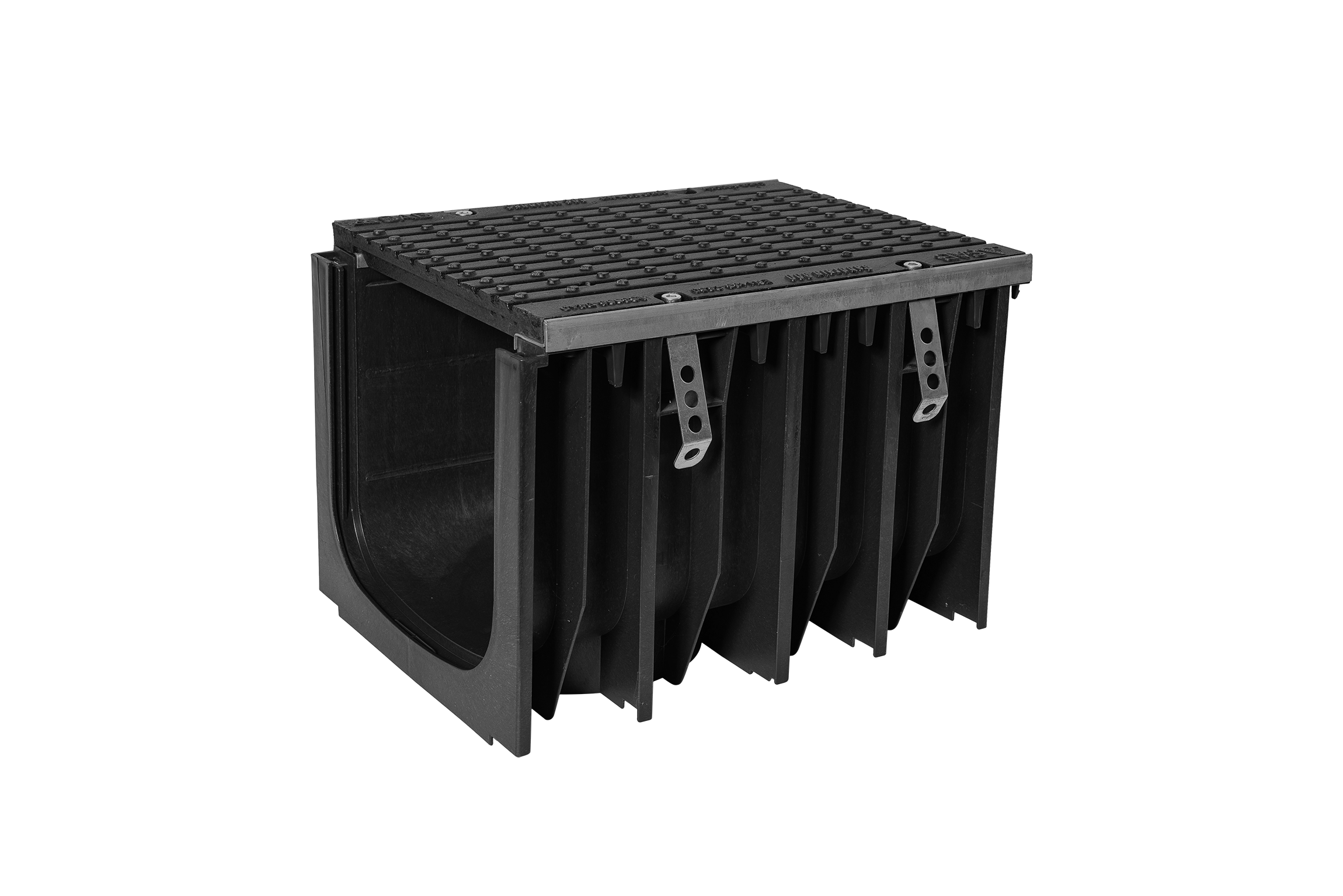 SABDrain 707 Grande is the largest of the channel and grate unit available for the ever increasing needs of the drainage market. While still being able to meet what is necessary to comply with the design requirements of class C - G ratings, this channel is able to deliver the performance required of it. Each grate is equipped with a 4 point security fixing system to secure it from unauthorized access, and keep it rattle free from vehicular movements, as well as steel side edging to give higher resistance to heavy loads.