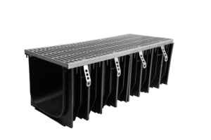 SABDrain 600 series combines the flexibility and durability of a polypropylene drainage channel unit whilst still being able to satisfy the strength requirements for situations that require accessibility for passenger and light vehicles, as well as malls & areas open to slow moving heavy commercial vehicles. This rated channel and grate has been designed to offer maximum versatility while delivering a lifetime of low maintenance service. Each galvanised grate comes with a 8 point security fixing, to keep it rattle free from vehicular movements and secure it from unauthorised access.
